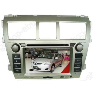 Touchscreen GPS DVD Player For Toyota Yaris sedan 2007 2012 +MAP