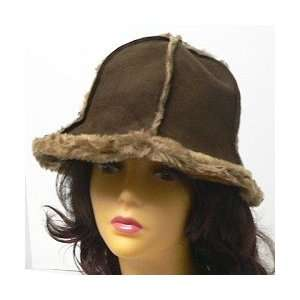 LADIES WOMENS GIRLS FAUX FUR & SUEDE WINTER HAT  SO CUTE