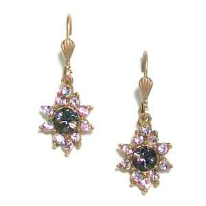 Catherine Popesco 14K Gold Plated Black Diamond and Clear
