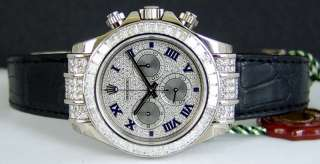 ROLEX   White Gold Daytona Diamond Pave Roman   116599