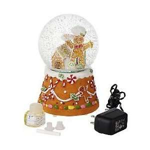 GREINER BATTERY OPERATED AUTO GINGERBREAD SNOW GLOBE W COOKIE SCENT