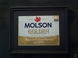 MOLSON GOLDEN NEW STYLE BEER SIGN #382