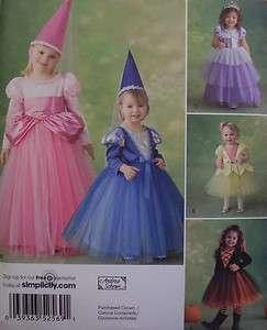 Simplicity 2569   Girls Toddler & Child Princess Costume Pattern 1/2 3