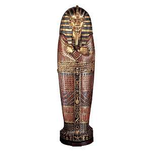 Tutankhamen Sarcophagus Cabinet 6¼ feet Egyptian Pharoah King Tut