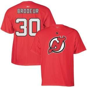 Reebok New Jersey Devils #30 Martin Brodeur Red Player T