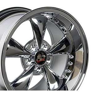 Bullitt Style Wheel with Rivets Fits Mustang (R)   Chrome 17x9/17x10.5