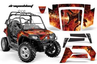 RZR 800 RZR 800S 2006 2010 SIDE x SIDE GRAPHICS KIT DECALS DB