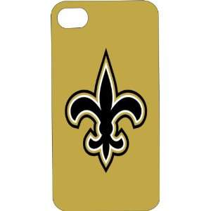 Clear Hard Plastic Case Custom Designed New Orleans Saints iPhone Case