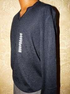 NWT Men Calvin Klein Lifestyle Extra Fine Merino Wool V Neck Sweater