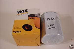 WIX FUEL FILTER #33351 FOR CASE, CATERPILLAR, FORD, IHC