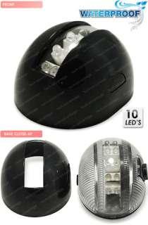 12V MODERN SLEEK BLACK HOUSING BOAT LED STERN LIGHT