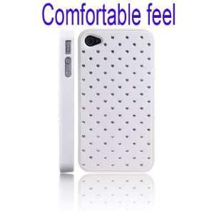 Feel Crystal Stars Hard Case for iPhone 4/4S(White)
