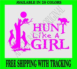 COON HUNTING DECAL GIRL Fishing Girls Squirrel 3719C