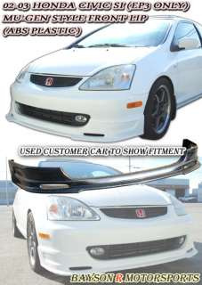 02 05 Civic 3dr Si Mugen Front Bumper Lip (ABS)