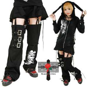 Unisex Rockabilly Visual Kei 3Way Skirt Cyber String Belt Skull Punk