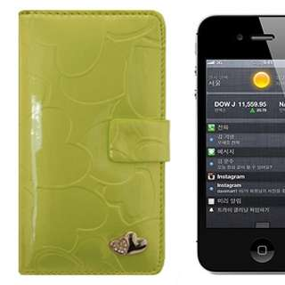 Leather Wallet Card Holder Pouch Flip Case for iPhone 4/4G/4S