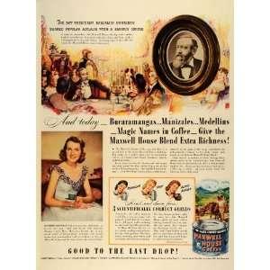 1942 Ad Maxwell House Coffee Slogan President Benjamin