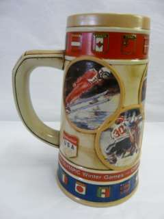 BUDWEISER CALGARY 1988 OLYMPIC WINTER GAMES BEER STEIN   12