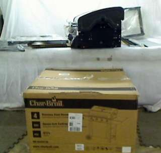 Char Broil T480 4 Burner 48,000 BTU Gas Grill, with Sideburner