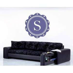 Letter S Monogram Letters Vinyl Wall Decal Sticker Mural Quotes Words