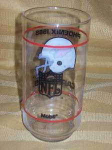 Arizona PHOENIX Cardinals 1988 NFL Logo Mobil Glass NEW