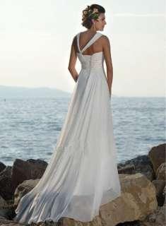 chiffon A line evening bridesmaids dresses beach wedding dress