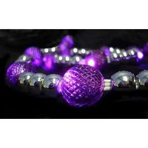 GKI 6 Lighted LED Purple Beaded Christmas Garland 20 Lights