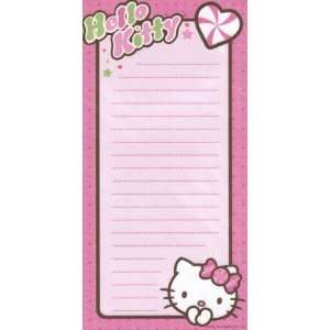Do List Note Pad Hello Kitty Pink on Pink with Heart