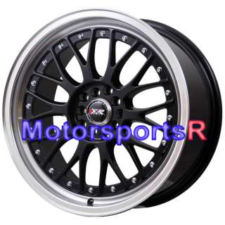 18 XXR 521 Black Machine Lip Rims Staggered Wheels Stance 06 Lexus