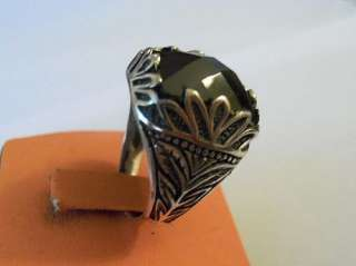 925 STERLING SILVER MENS ONYX RING NEW