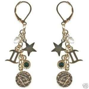 Kirks Folly Crystal Star Gazer Earrings Gemini Zodiac