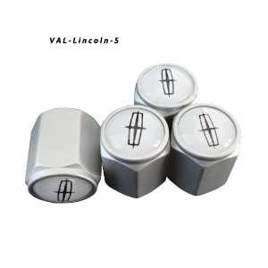 AGT Aluminum Silver Valve Caps Tire Cap Stem for Lincoln Wheels (Pack