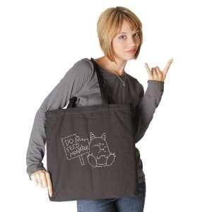 Do Not Feed Monster Black Tote Bag