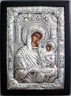 Greek Icons Silver Icon 950 Saint Anna Agia Anna