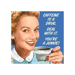 Caffeine Is A Drug funny drinks mat / coaster