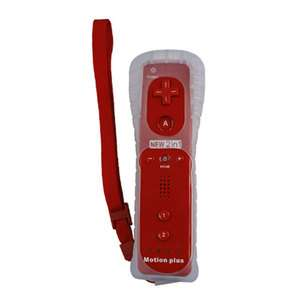 Red remote with Built in motion plus for Nintendo wii