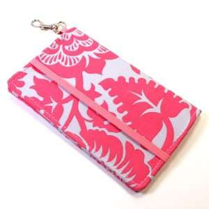 Kailo Chic Cell Phone Wallet Flip Cover Case with Key Clasp  Pink Gray