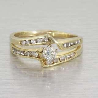 Fine Vintage 14k Gold Diamond Engagement Ring Set