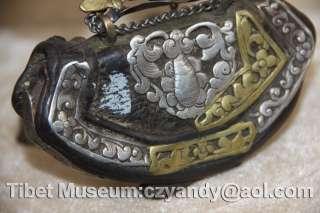 Wonderful Amazing Old Antique Tibetan Noble Silvered Purse
