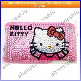 Rhinestone Hello kitty Back Cover Case iPhone 3G 3GS AP2001