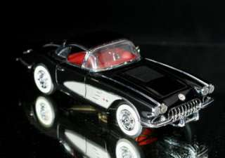 FRANKLIN MINT 1958 Chevrolet Corvette Diecast 124 BLK