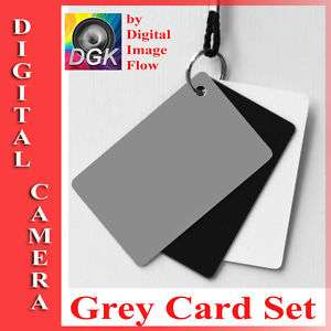 Grey Card set White Balance WB for Canon Nikon Sony
