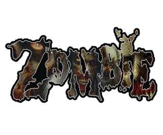 ZOMBIE Sticker ZOMBIES Walking Dead Vinyl Window Bumper Decal