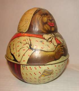 Americana Antique Mayos ROLY POLY TOBACCO TIN BROWNIE MAMMY 1912