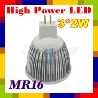10X High Quality 6W Warm White MR16 High Power LED Light Bulb Lamp 12V