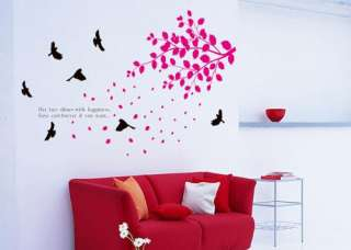 Flying Bird Swallow Dove Tree Art Mural Wall Decal Sticker Vinyl Home