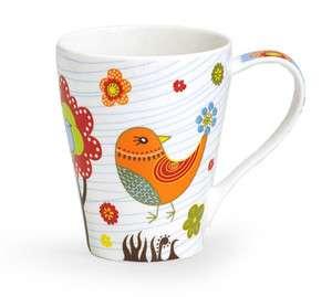 WHIMSICAL OWL BIRD COFFEE TEA MUG WITH GIFT BOX