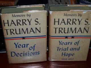 Harry Truman SIGNED 1st EDITION 2 Vol Set JIMMMY HOFFA