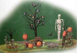 Department 56 Creepy Lighted Front Yard Halloween Village Accessories