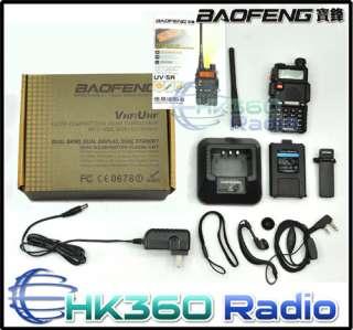 BAOFENG UV 5R Dual Band 136 174/400 480Mhz w/FM RADIO receiver